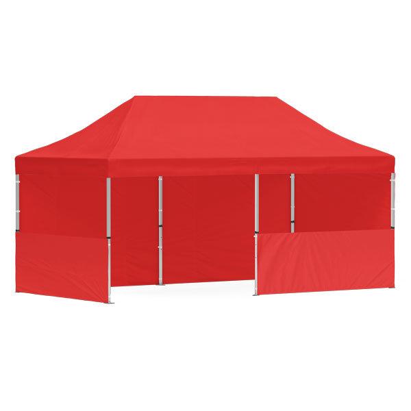 namiot reklamowy 3x6m bez nadruku czerwony