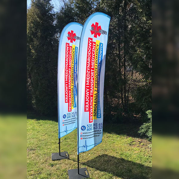 flagi reklamowe realizacje winder skrzydlo na ratunek
