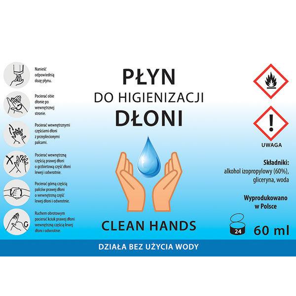 Płyn do higienizacji dłoni - etykieta