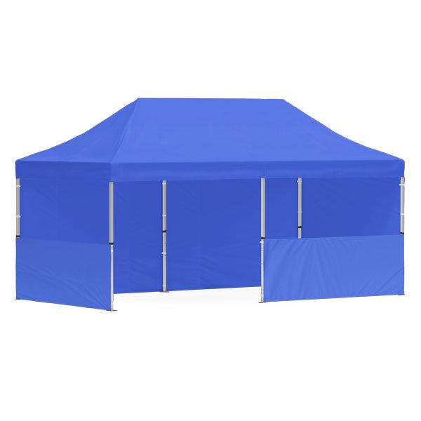 namiot reklamowy 3x6m bez nadruku niebieski