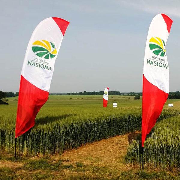 flagi reklamowe realizacje winder skrzydlo top farms