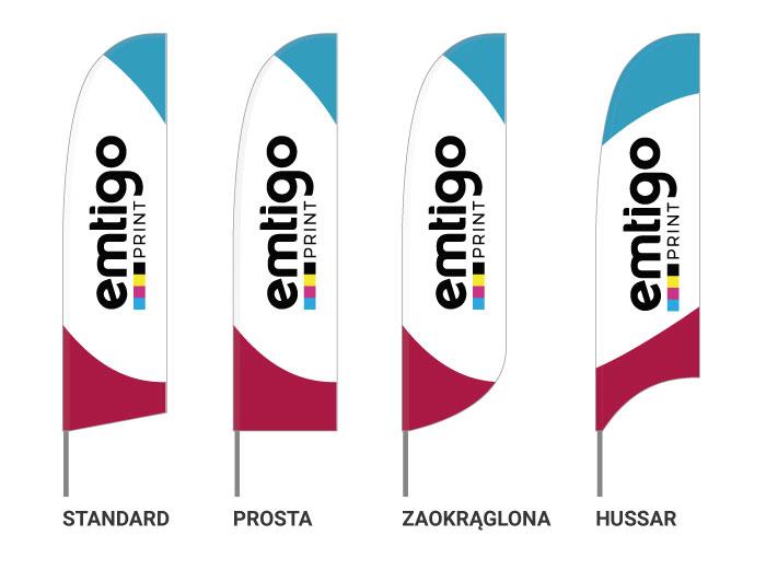 flagi reklamowe winder skrzydlo ksztalt